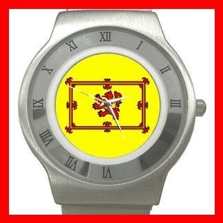 Old Scottish Rampant Lion Flag Stainless Steel Wrist Watch Unisex 016
