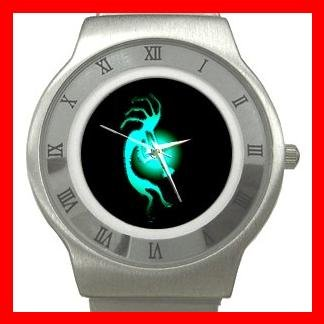Kokopelli Kokopele Love Stainless Steel Wrist Watch Unisex 019