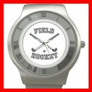 Field Hockey Sports Game Stainless Steel Wrist Watch Unisex 022