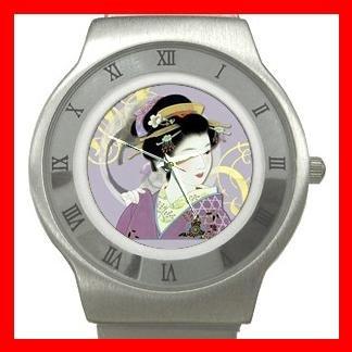 Geisha Geiko Japanese Art Stainless Steel Wrist Watch Unisex 025