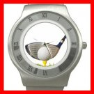 Golf Hit Sports Game Stainless Steel Wrist Watch Unisex 027