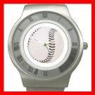 Baseball Ball Sports Game Stainless Steel Wrist Watch Unisex 030