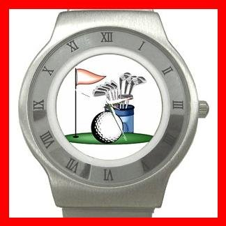 Golf Sports Game Stainless Steel Wrist Watch Unisex 031