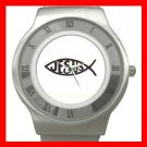 Christian Jesus Fish Stainless Steel Wrist Watch Unisex 033