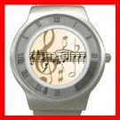 Music Note Magic Hobby Stainless Steel Wrist Watch Unisex 039