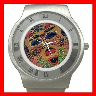 Mask Play Art Hobby Stainless Steel Wrist Watch Unisex 041