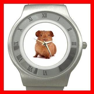Cute Guinea Pig Pet Stainless Steel Wrist Watch Unisex 044
