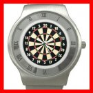 Dart Board Game Stainless Steel Wrist Watch Unisex 054
