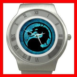 Blue Dragon Myth Stainless Steel Wrist Watch Unisex 055