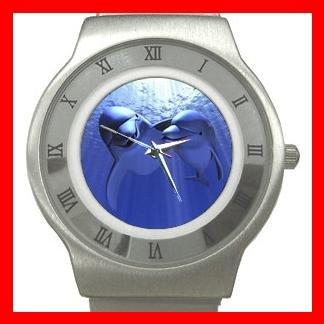 Dolphin Lovers Animal Stainless Steel Wrist Watch Unisex 056