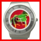 Red Eye Tree Frog Stainless Steel Wrist Watch Unisex 063