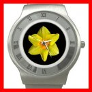 DAFFODIL Yellow Flower Fun Stainless Steel Wrist Watch Unisex 075