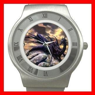 Black Dragon Myth Stainless Steel Wrist Watch Unisex 078