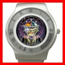 Rare Wicca Pentagram Pentacle Stainless Steel Wrist Watch Unisex 079