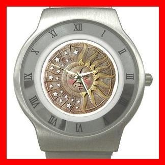 CELESTIAL SUN & MOON Stainless Steel Wrist Watch Unisex 081