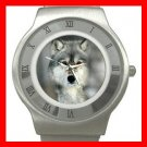Grey Wolf  Animal Stainless Steel Wrist Watch Unisex 083