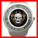 Skull Skeleton Goth Hobby Stainless Steel Wrist Watch Unisex 094