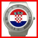 Croatia Flag Pan Slavic Stainless Steel Wrist Watch Unisex 099