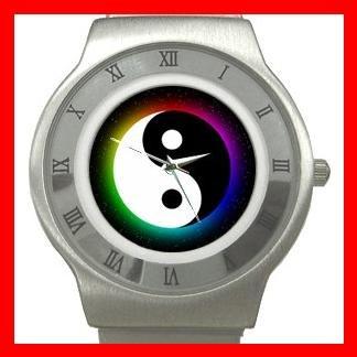 Yin Yang Chinese Myth Fun Stainless Steel Wrist Watch Unisex 107