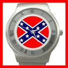 Rebel Confederate Flag Stainless Steel Wrist Watch Unisex 108