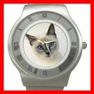 Siamese Cat Pet Animal Stainless Steel Wrist Watch Unisex 109