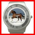 Horse Running on Beach Stainless Steel Wrist Watch Unisex 114