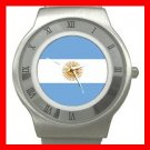 New Argentina Flag Patriotic Stainless Steel Wrist Watch Unisex 116