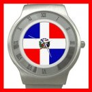 New Dominican Republic Flag Patriotic Stainless Steel Wrist Watch Unisex 117