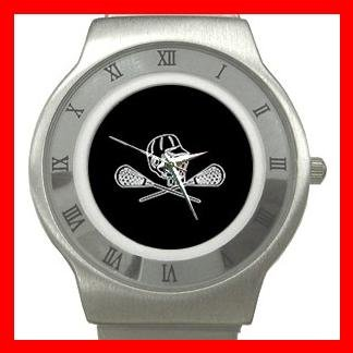 Lacrosse Sticks Sport Game Stainless Steel Wrist Watch Unisex 120