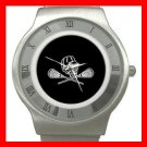 Lacrosse Sticks Sport Game Stainless Steel Wrist Watch Unisex 120
