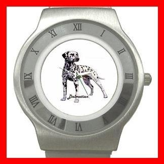 Dalmatian Dog Pet Animal Stainless Steel Wrist Watch Unisex 122