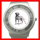 Dalmatian Dog Pet Animal Stainless Steel Wrist Watch Unisex 122