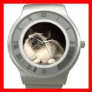 Cute Birman Cat Pet Animal Stainless Steel Wrist Watch Unisex 123