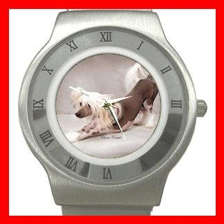 Chinese Crested Dog Pet Animal Stainless Steel Wrist Watch Unisex 127