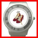 Wizard of Oz Ruby Slipper Stainless Steel Wrist Watch Unisex 128