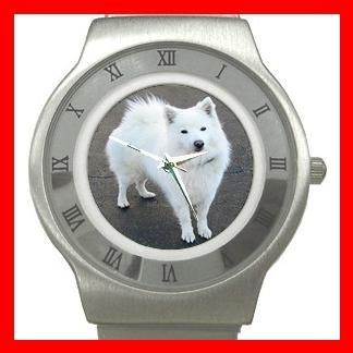 AmericanEskimo Dog Pet Animal Stainless Steel Wrist Watch Unisex 130
