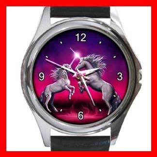 Unicorn Dance Myth Fantasy Metal Wrist Watch Unisex 002