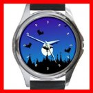 Halloween Graveyard Myth Holiday Metal Wrist Watch Unisex 008