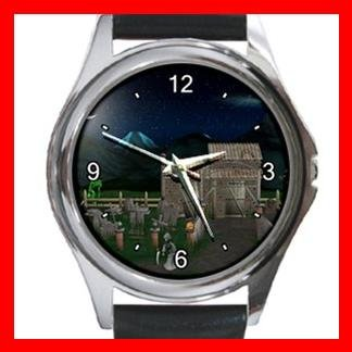 Haunted House Halloween Myth Holiday Metal Wrist Watch Unisex 009