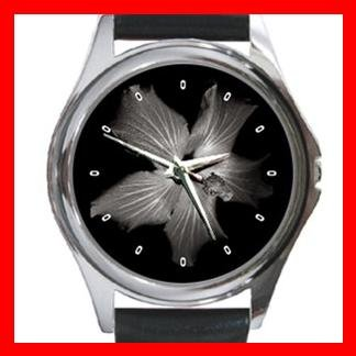 Hawaiian Flower Metal Wrist Watch Unisex 011