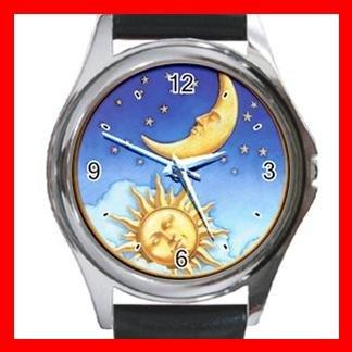 Sun Moon Stars Star Hobby Metal Wrist Watch Unisex 012