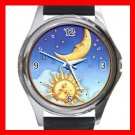 Sun Moon Stars Star Hobby Metal Wrist Watch Unisex 012