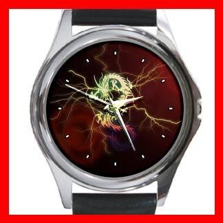 Red Dragon Myth Fantasy Metal Wrist Watch Unisex 015