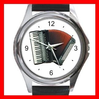 Accordion Piano Music Hobby Metal Wrist Watch Unisex 017