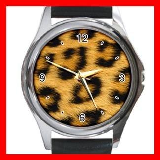 Leopard Skin Wild Animal Metal Wrist Watch Unisex 024