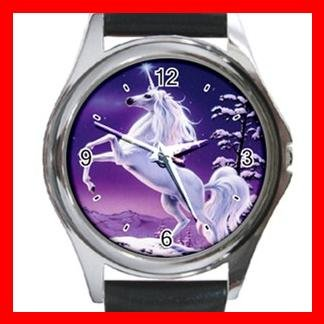 Unicorn Moon Myth Fantasy Metal Wrist Watch Unisex 025