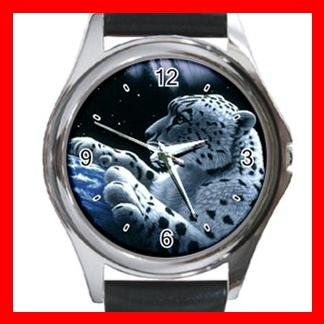 Leopard Wild Animal Metal Wrist Watch Unisex 026
