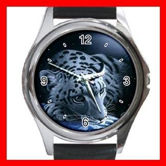 Leopard Wild Animal Metal Wrist Watch Unisex 027