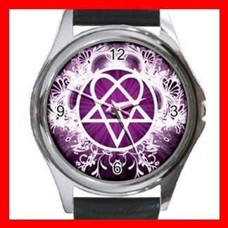 Pink Heartagram Hobby Fun Metal Wrist Watch Unisex 029