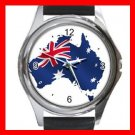 Australian Flag Patriotic Round Metal Wrist Watch Unisex 032